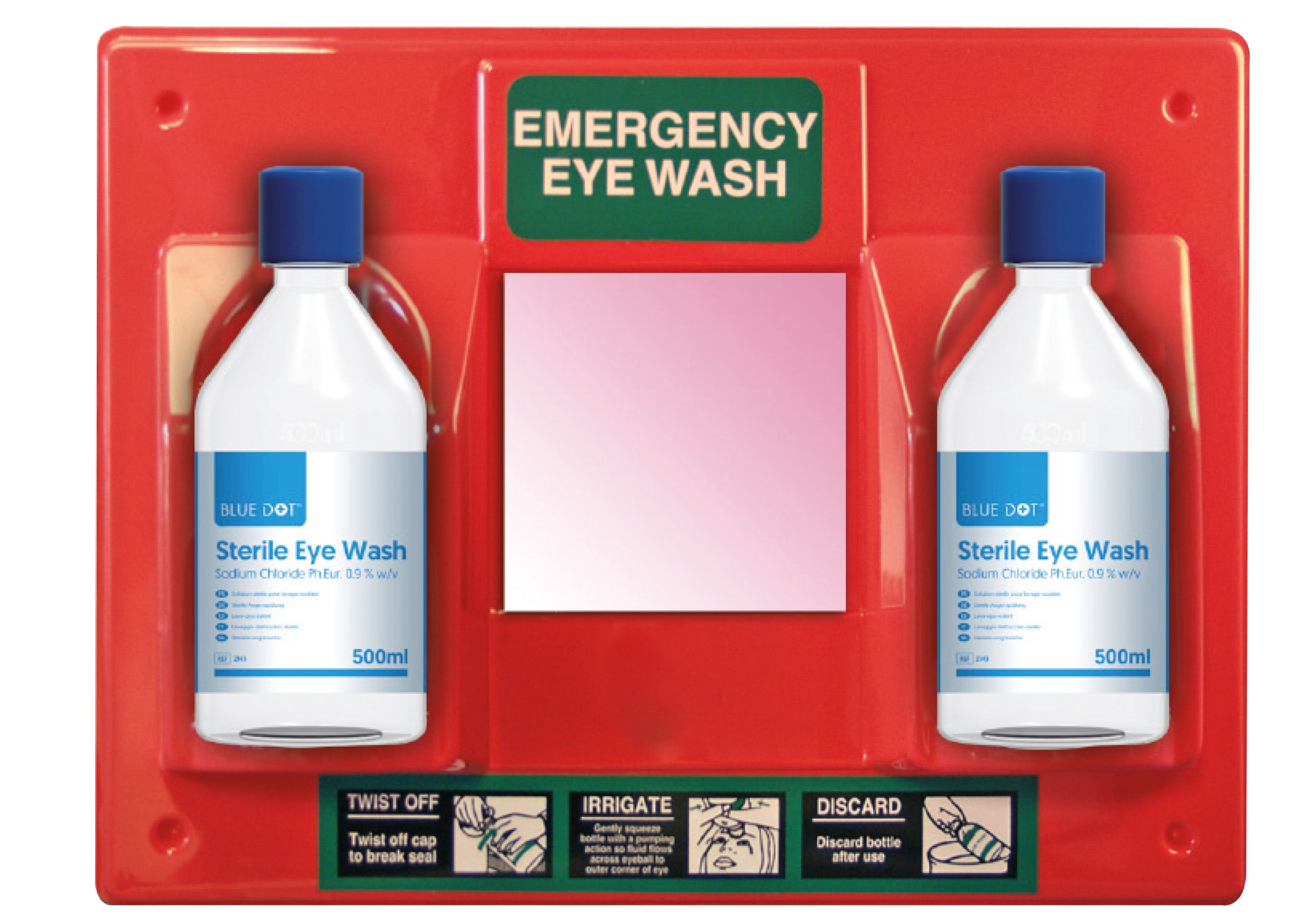 Orange Eyewash Station