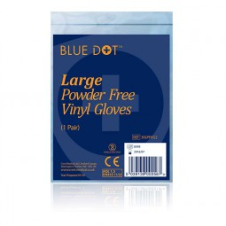 Vinyl Powder Free Gloves - 1 x Pair
