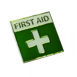 First Aid Badge With Pin And Catch