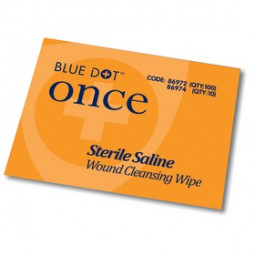 Blue Dot Sterile Saline Wipes - Pack of 20