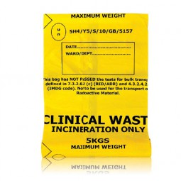 Biohazard / Clinical Waste Bag Self Seal 203mm x 354mm