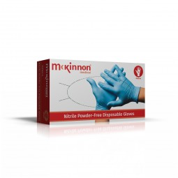 McKinnon Medical Blue Nitrile Powder-Free Gloves