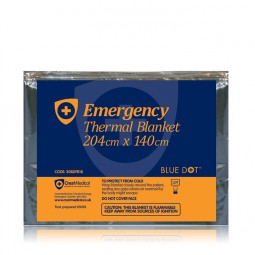 Emergency Foil Blanket, Adult, 204cm x 140cm