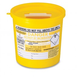 Sharps Disposal Container 2.5Ltr