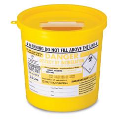 Sharps Disposal Container Bin (2.5 Litre)