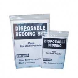 Disposable Bedding Pack - 1 Sheet + 1 Pillowcase