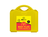 Body fluid clean-up kits, Disinfectants etc.